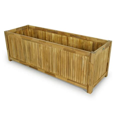Teak Planters by Westminster Rectangular Teak Planter 20x60 Westminster