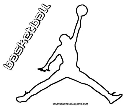 michael jordan logo coloring pages sketch coloring page
