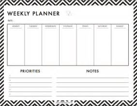 week planner template 6 weekly planner templates word excel templates