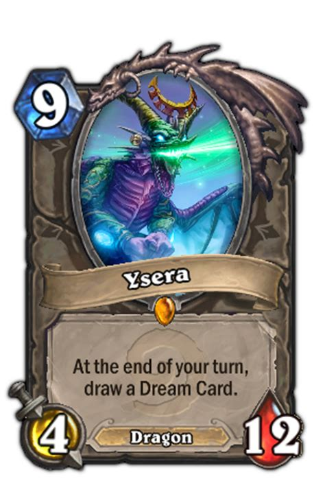 hearthstone legendary card template ysera hearthstone heroes of warcraft wiki fandom