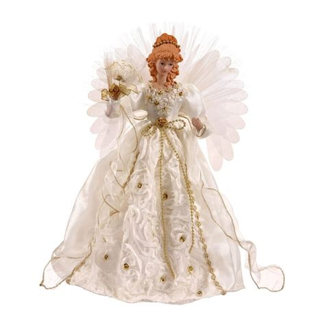 shop vickerman 18 in lighted fiber optic fabric angel