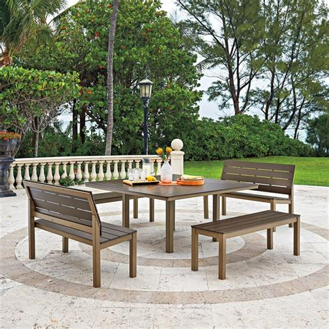 chandler mgp aluminum square patio dining set from