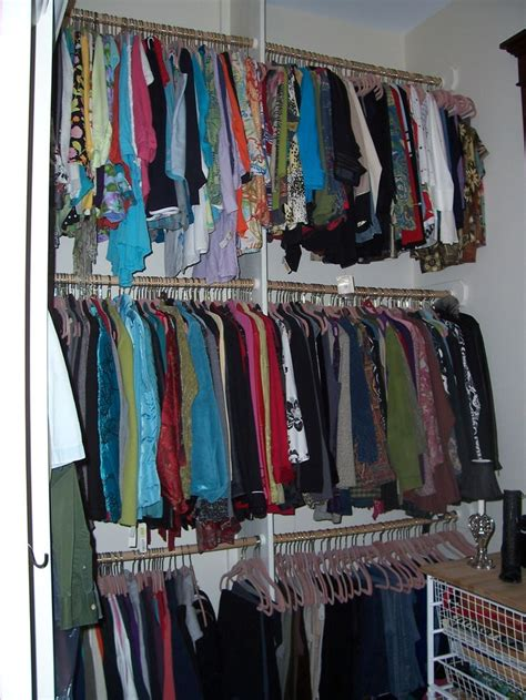 Closet Hanging Rack by Hanging Racks Walk In Closet Ideas