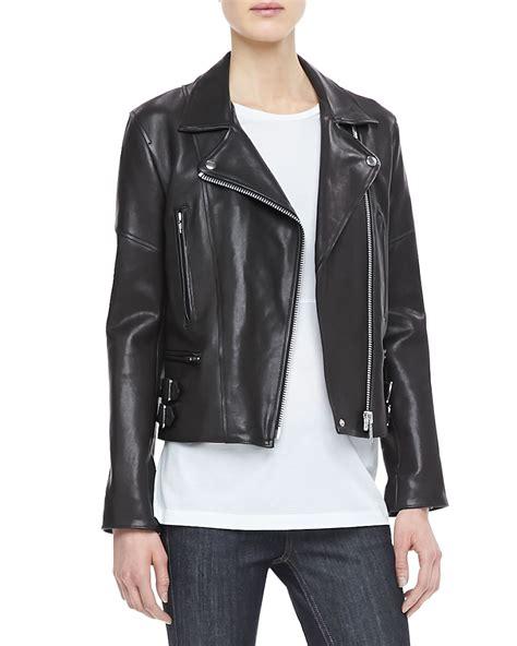 Beckham Vovolia 9810 1 Leather beckham joan leather biker jacket in black lyst