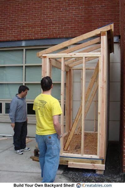 lean  shed build  doors pinterest
