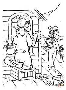 chinese new year coloring pages cleaning the house new desenho de wildcat est 225 limpando a casa para colorir