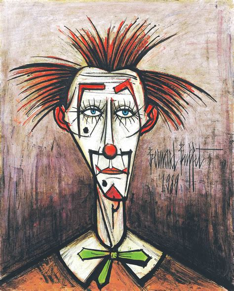 clown oil paintings some bernard buffet paintings were