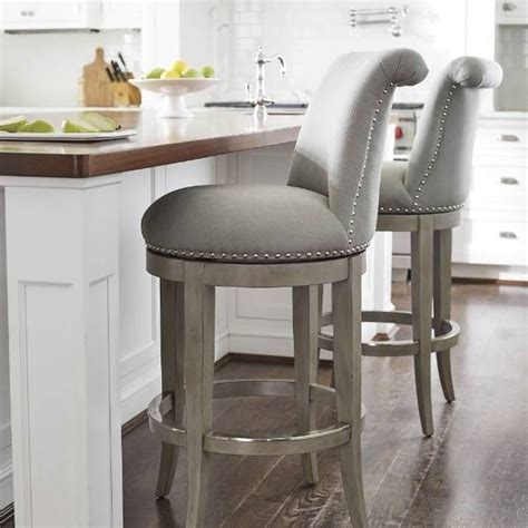 Grey Leather Swivel Bar Stools by Stools Design Inspiring Grey Wood Bar Stools Grey Bar