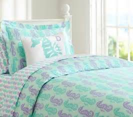 Wash Down Comforter At Home Preppy Seahorse Duvet Cover Pottery Barn Kids