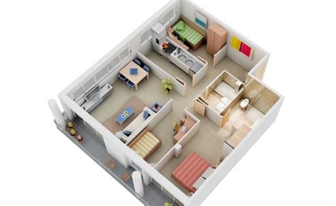 3 roomed house plan 3 bedroom apartment house plans