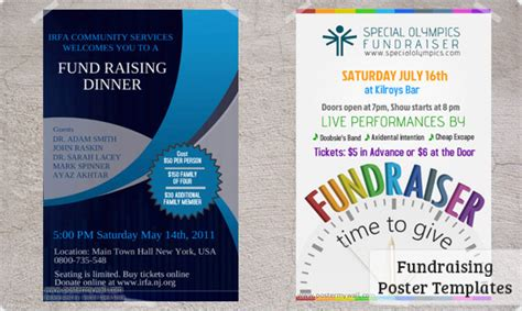 fundraising posters templates downloads postermywall