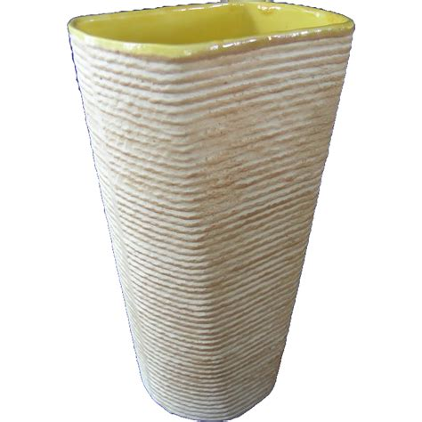 Shawnee Vase by Shawnee Pottery Company Vase Rope Pattern From