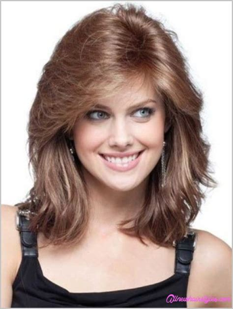 haircuts medium length round face medium length curly haircuts for round faces