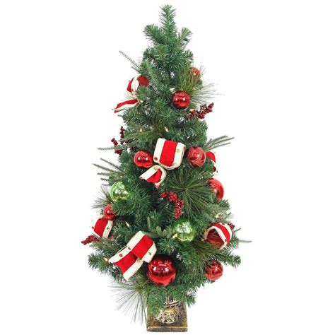 4 ft tree home accents 4 ft pre lit led jolly artificial