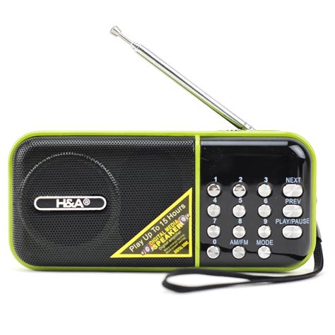 Speaker Portable Mp3 Mobil Audi T3009 3 portable am fm radio with pa system speaker mp3 player with usb tf slot ebay