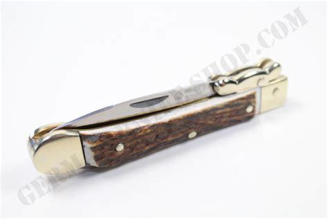 medici knife quot medici quot stag stiletto pocket knife german knife shop