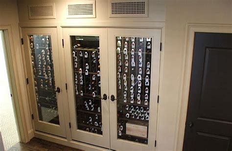 How To Build A Wine Rack In A Kitchen Cabinet Custom Refrigerated Built In Wine Cabinets