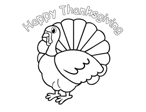 turkey pictures to color happy thanksgiving coloring pages to and print