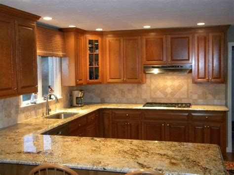 Granite And Backsplash Combinations Namibian Gold