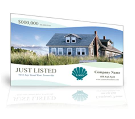 just listed card template real estate postcards affordable and effective