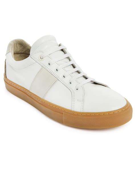 gum sole sneakers national standard edition 4 white leather gum sole