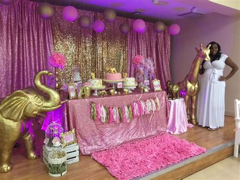 Pink Safari Baby Shower Ideas by Pink Gold Safari Baby Shower Ideas Photo 13 Of