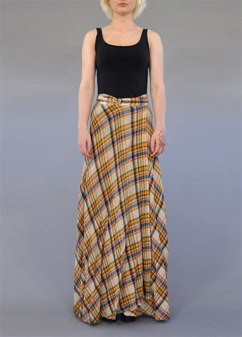 vintage cheesecloth maxi skirt