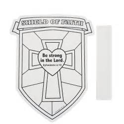 Color your own shield of faith cutouts
