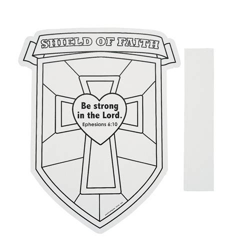 Shield Of Faith Coloring Page color your own shield of faith cutouts