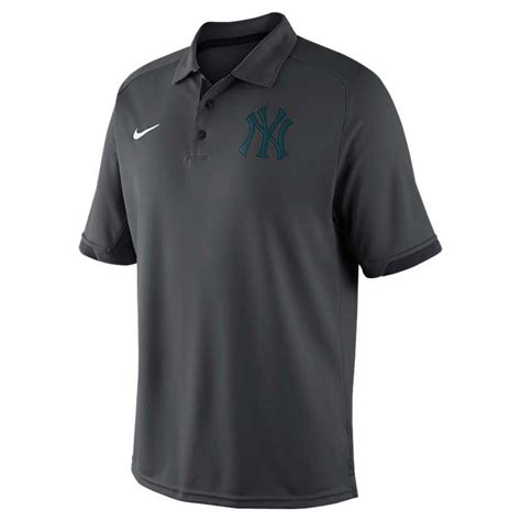 Polo Shirt Nike Yankees All Color nike s new york yankees dri fit polo shirt in gray for anthracite lyst