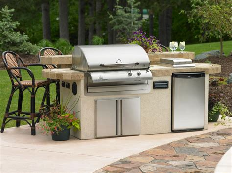 How To Build An Outdoor Kitchen Island charcoal vs gas outdoor grills hgtv