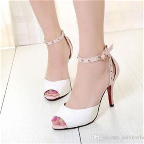 sandal high heels wanita kokop brukat model terbaru cantik murah