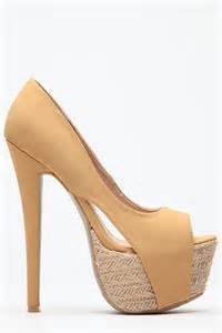camel colored pumps camel peep toe espadrille pumps cicihot heel shoes