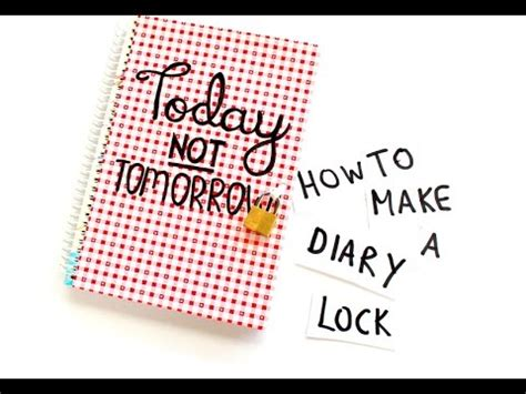 How To Make A Diary Out Of Paper For - how to make a diary lock in 5 minutes