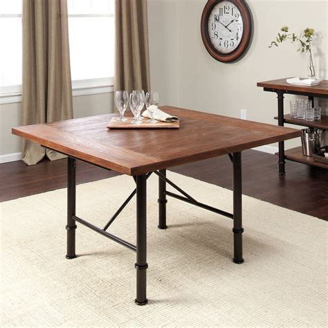 Rustic Wood And Metal Dining Table Rustic Metal And Wood Dining Table In The Kitchen Pinterest