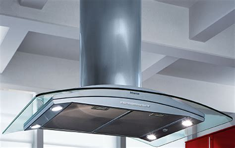 kitchen island exhaust hoods exhaust hoods by miele