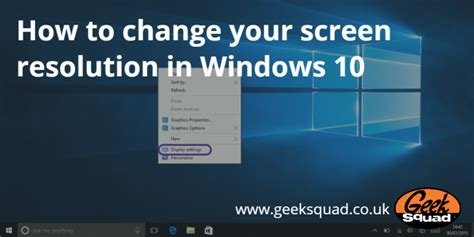 windows 10 tutorial how to geek how to change your screen resolution in windows 10 geek