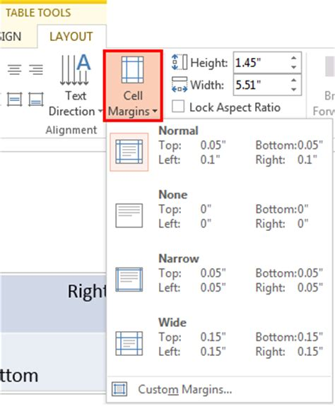 Text Table by Text Alignment Within Table Cells In Powerpoint 2013 For