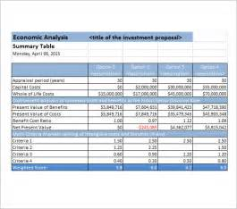Business Cost Benefit Analysis Template cost analysis template 8 free documents in pdf word excel
