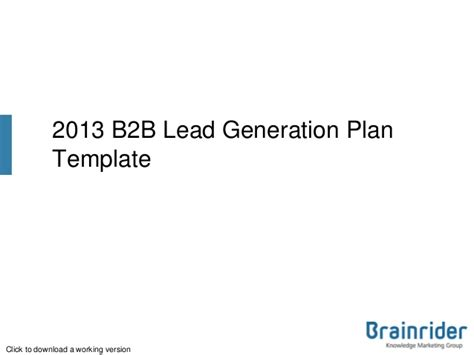 lead generation plan template upload login signup