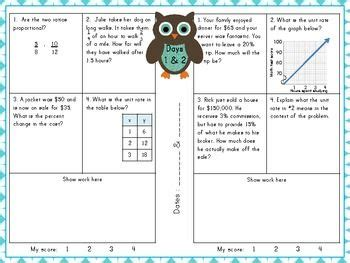 Proportional Relationship Worksheets 7th Grade by 7th Grade Common Ratios And Proportional