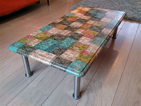 decoupage glass table top decoupage coffee table i did this with different sized leaves cut out from green and floral