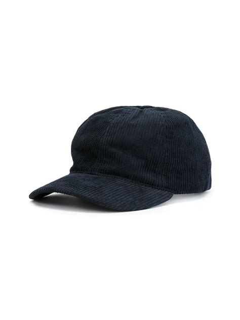 a p c corduroy baseball cap in blue for lyst