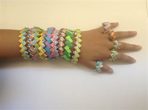 How To Make Jewellery From Paper - bracelet with paper just another site