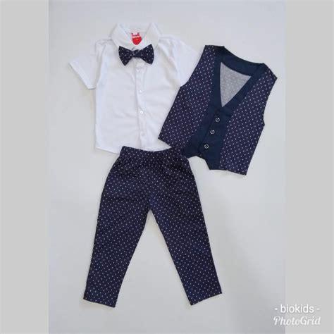 Rompi Cowok Set baru balita bayi anak laki laki musim panas pakaian set