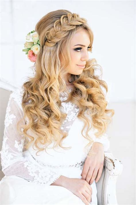 wedding hairstyle ideas for hair 20 wedding hair ideas with flowers modern wedding