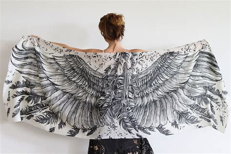 Handmade Wings - these gorgeous scarves will make you look like a bird with
