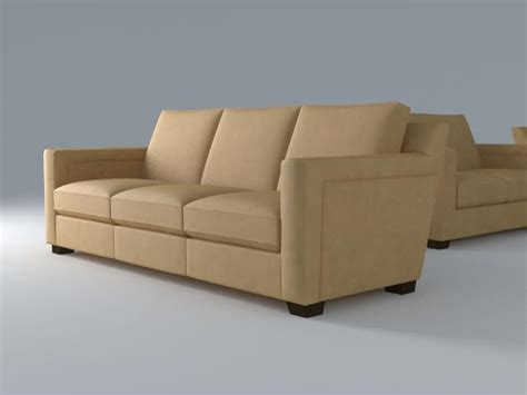 sectional model sofa 3 seat 3d model chair seat 3ds max dxf fbx jpeg obj ar vr