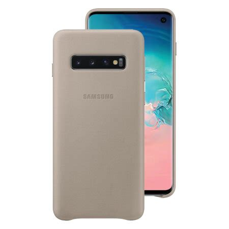 Samsung Galaxy S10 Leather by Official Samsung Galaxy S10 Leather Cover Grey