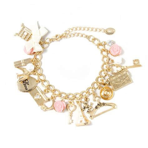 inspired gold charm bracelet s us